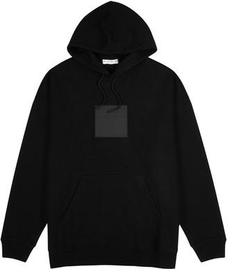 Givenchy Black logo hooded cotton sweatshirt