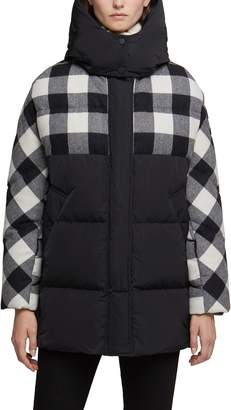 Woolrich Buffalo Check Water Repellent Puffy Down Coat