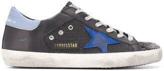 Golden Goose Superstar glittered lace-up trainers