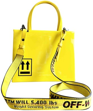 Off-White Yellow Leather Handbags