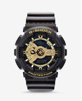 Casio g-shock extra large black and gold watch