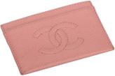 One Kings Lane Vintage Chanel Baby Pink Credit Card Wallet - Vintage Lux
