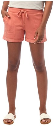 Alternative Lightweight French Terry Lounge Shorts (Sunset Coral) Women's Shorts