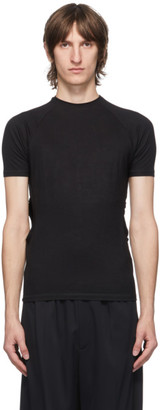 Carlota Barrera Black Cut-Out Raglan T-Shirt
