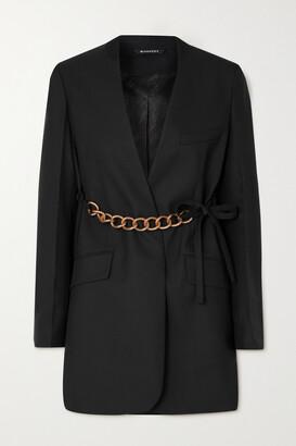 GIVENCHY - Chain-embellished Wool Wrap Blazer - Black