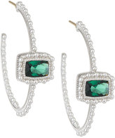 Judith Ripka Rapture Stone Center Hoop Earrings, Green