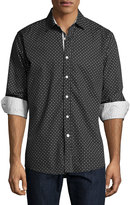 English Laundry Geometric-Print Sport Shirt, Black