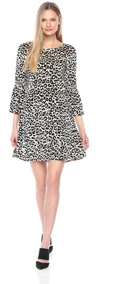 Julian Taylor Women's Leopard Printed Velvet Dress