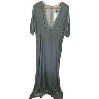 Ganni Blue Velvet Dresses