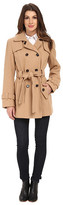 Calvin Klein Double Breasted Belted Wool Trench Coat