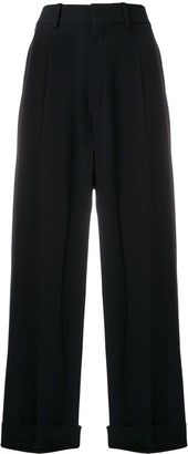 Chloé Wide Leg Cropped Trousers