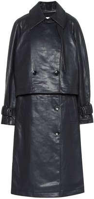 Tibi Convertible faux leather trench coat