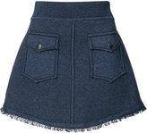 Derek Lam 10 Crosby patch pocket mini skirt - women - Cotton - XS