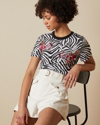 Ted Baker Samba Printed Cotton T-shirt