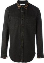 Givenchy studded collar denim shirt - men - Cotton/Spandex/Elastane - M