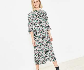 Oasis Floral Print Midi Dress