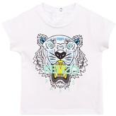 Kenzo White Tiger Print Tee