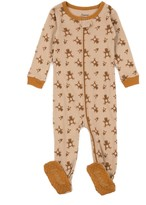 Leveret Teddy Cotton Footie Pajama (Baby & Toddler)