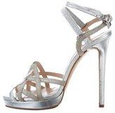 Oscar de la Renta Metallic Multistrap Sandals