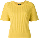 Theory ribbed-knit top - women - Polyester/Spandex/Elastane/Viscose - S