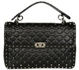 Valentino Women's Black Leather Shoulder Bag.