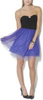 Wet Seal Glitter Mesh 2fer Party Dress