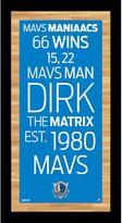 "Steiner Sports Dallas Mavericks 19"" x 9.5"" Vintage Subway Sign"