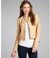 Jakett sand grained leather high-low zip front 'Victoria' jacket