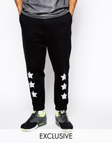 Reclaimed Vintage Sweatpants with Star Print