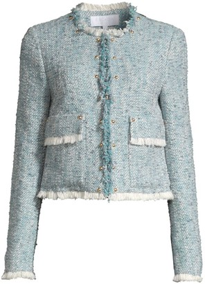 Escada Sport Fringe Tweed Jacket