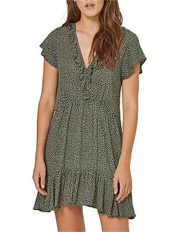 AUGUSTE Pearl Jasper Mini Dress Khaki
