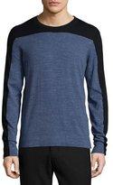 Vince Jaspe Colorblock Crewneck Shirt, Blue