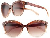 UNIONBAY Women's Rhinestone Cat's-Eye Sunglasses