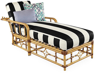 Celerie Kemble For Lane Venture Mimi Chaise - Black/White Stripe