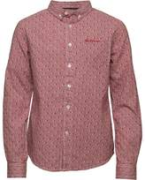Ben Sherman Junior Boys Long Sleeve Shirt Rio Red
