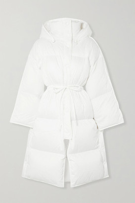 Acne Studios Ottie Oversized Hooded Quilted Shell Down Coat - White
