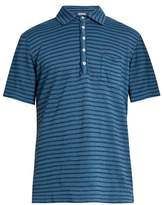 Massimo Alba Wembley striped linen polo shirt