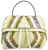 Tod's Python-Trimmed Micro Wave Bag