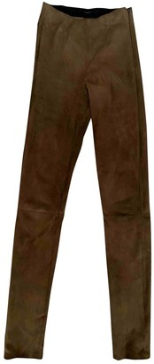 Uterque Camel Suede Trousers