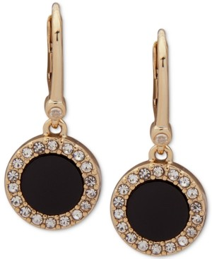 DKNY Pave & Stone Small Drop Earrings, Created for Macy's
