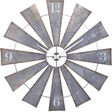Imax Ward Metal Windmill Wall Clock
