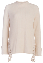 French Connection Freedom Fringe Jumper, Classic Cream