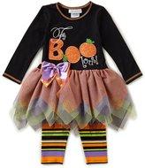 Bonnie Jean Little Girls 2T-6X Halloween Faboolous Tutu Dress & Printed Leggings Set