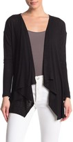 Bobeau Rib Knit Waterfall Cardigan