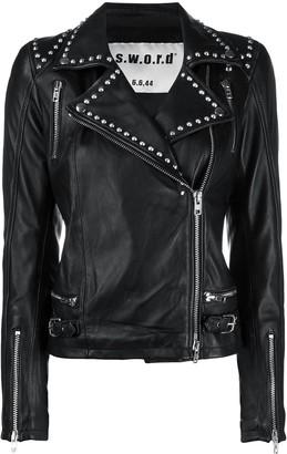 S.W.O.R.D 6.6.44 Studded Leather Biker Jacket