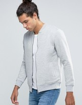 Threadbare Quilted Zip Thru Bomber Sweater