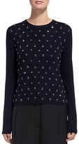 Whistles Embellished Cropped Sweater