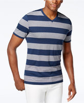 Alfani Men's Striped Slim-Fit V-Neck T-Shirt, Only at Macy's