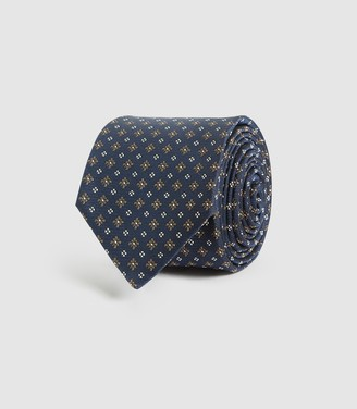 Reiss Lefty - Silk Blend Tie in Navy