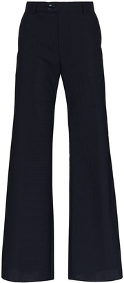 Martine Rose Ansell checked flared trousers